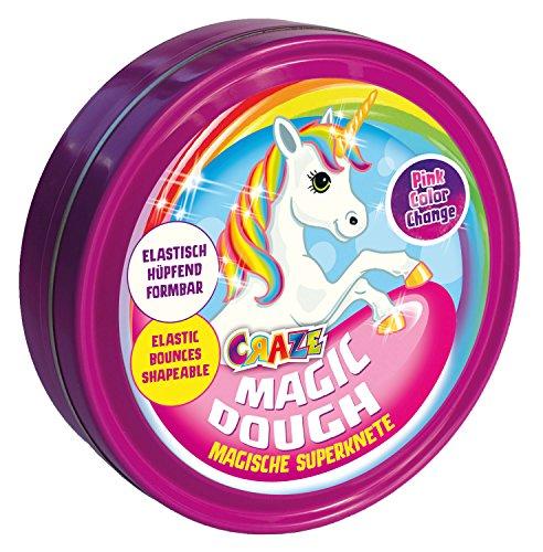 Craze 58917 - Magische Superknete - Magic Dough Unicorn, ca. 80 g in Dose, Sortiert
