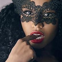 lenceria erótica mujer, AIMEE7 cosplay erótica Mascarada Máscara de encaje Catwoman erótica Halloween Recorte negro Prom Party Máscara Accesorios