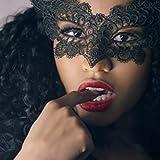 lenceria erótica mujer, AIMEE7 cosplay erótica Mascarada Máscara de encaje Catwoman erótica Halloween Recorte negro Prom Party Máscara Accesorios (Negro, talla única)