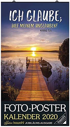 Foto-Poster-Kalender 2020: Jubiläums-Kalender zum Aufhängen