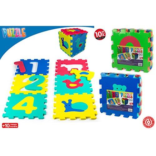 Alfombra goma eva Puzzle EVA con 10 piezas, 64 X 96 cm