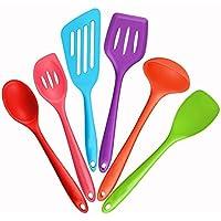Dracarys Utensilios de cocina de silicona utensilios de cocina - utensilios de cocina resistentes al calor - conjunto de espátula - duradera herramientas de silicona - multicolor - diferentes tipos de cucharas cucharones - utensilios de cocina