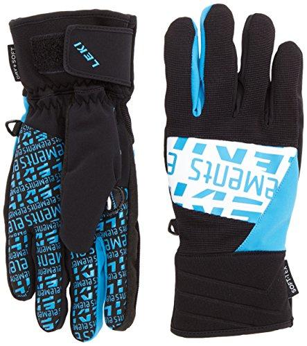 Für Schnee Griffe Laufschuhe (LEKI Skihandschuhe Elements Helium S, Black-White Cyan, 8, 63488053)