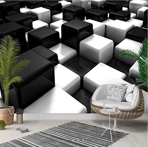 Yhzer Cubos Blancos Negros Cajas Resumen 3D Foto Tejido