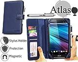Navitech Acer Iconia Talk S blaue 7 Zoll bycast Leder Folio Case / Cover / Hülle mit Stylus