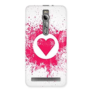 Delighted Splash Heart Back Case Cover for Asus Zenfone 2