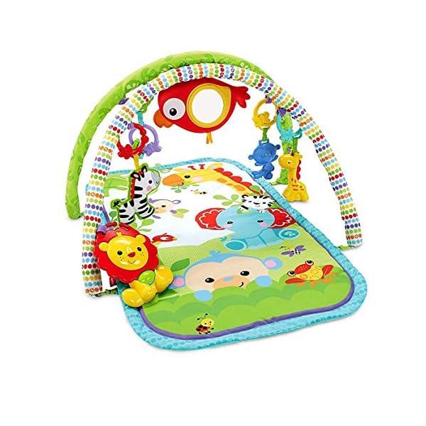 Fisher-Price Palestrina della Foresta con 3 Livelli di Gioco, 5 + 1 giocattoli, Musica e Suoni, Morbido Tappetino…