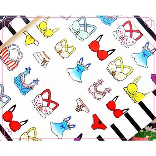 Born Pretty 1 Planche Water Decals Pour Ongles Soutien-Gorge/Bra