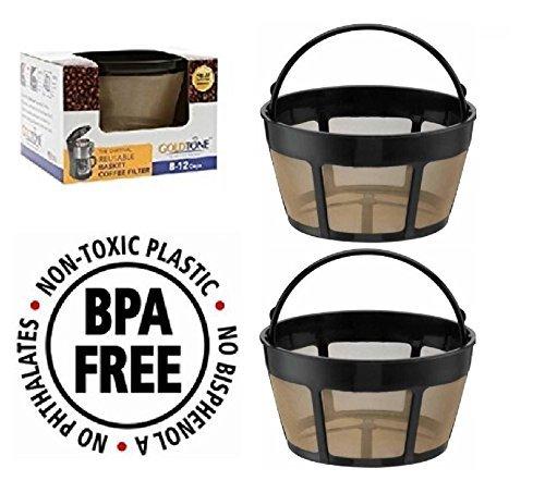 iederverwendbar 8-12Cup Korb Kaffee-Filter passt Cuisinart Kaffeemaschine und Brauer. Ersetzt Ihr Cuisinart wiederverwendbar Korb Kaffee Filter-BPA-frei ()