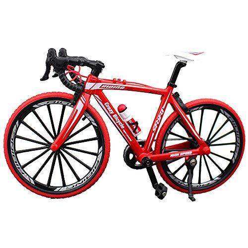 BicycleCrazy Fahrrad Miniatur 1:10 Rennrad (rot)