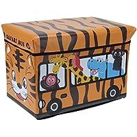 Preisvergleich für EMAKO Spielzeugbox Spielzeugkiste Kinder Aufbewahrungsbox Spielzeugtruhe Box 47L (Orange)