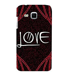 FUSON Text Love With Curly 3D Hard Polycarbonate Designer Back Case Cover for Samsung Galaxy J3 Pro :: Samsung Galaxy J3 (2017)