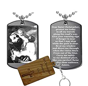 St. Christopher Patron Saint of Travelers(stainless steel) -Pendant Necklace
