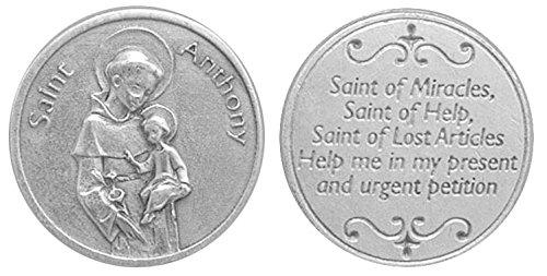 St. Antonius Pocket Token. ST Antonius von Padua Gebet Token. Gebet Medaille. Perfekt für Ihre Tasche, Geldbörse oder Handtasche.