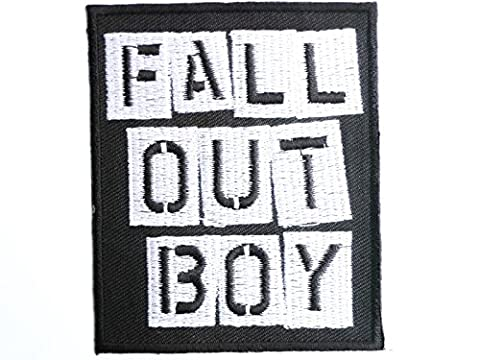 FALL oUT bOY iron on sew on rock emo embroidered patch 3/8 cm
