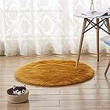 DHHY Runden Teppich Plüsch Teppich Home Wohnzimmer Dekoration Schlafzimmer Erker Tür Matte B Durchmesser 90 cm
