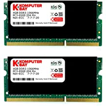 Komputerbay KB 8GB - Kit de 2 memorias RAM (2 x 4 GB, DDR3, 1066 MHz, PC3-8500)