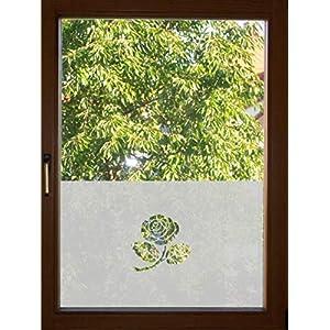 670 / 65cm hoch Sichtschutz Folie Fenster Sichtschutzfolie Fensterfolie Glasdekor Sichtschutzfolie Window blickdicht wasserfest selbstklebende Folie