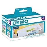 Dymo Label Writer Etiquettes Couleurs Assorties Adhésif Permanent 28 x 89m - 4 Rouleaux de 130 Etiquettes