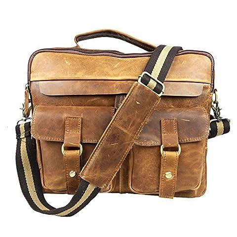 Boshiho , Sac à main pour homme marron marron - marron - Jaune/brun,