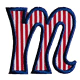 TrickyBoo iron-on fabric smallcase letter m103, 4-5cm personalizes name room birthday diy christening Baby Expecting Mil