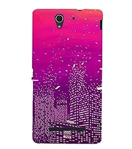 ifasho Designer Back Case Cover for Sony Xperia C3 Dual :: Sony Xperia C3 Dual D2502 (Cities Hongkong China Kurnool)