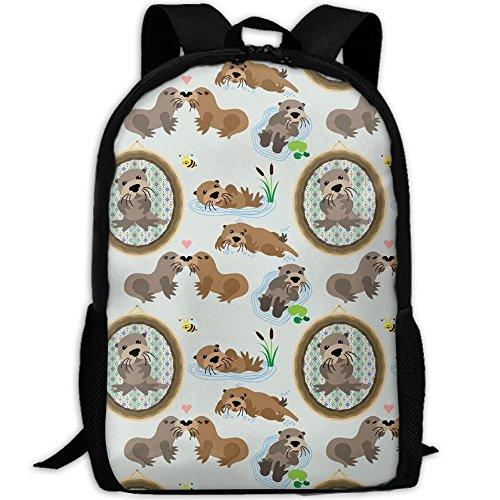 Otter-laptop-tasche (Neue Otter 3D Print Rucksack College School Laptop Tasche Daypack Travel Umhängetasche für Unisex)