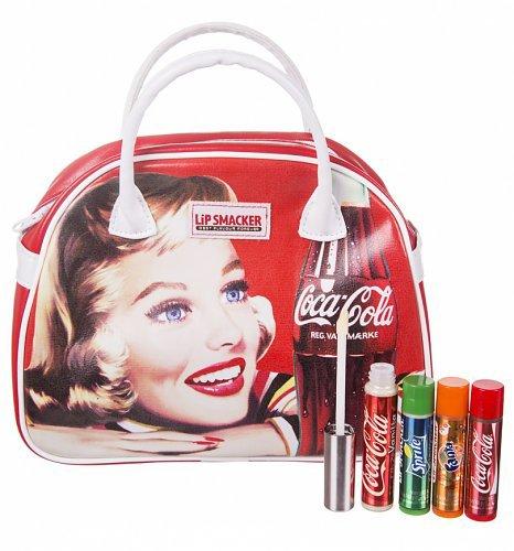 lip-smacker-coca-colatm-vintage-bowling-bag-handtasche-incl-3-lippenpflegestiften-u-1-lipgloss