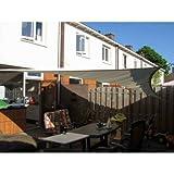 Sunfighters Sonnenschutz Garten Balkon und Terrasse wetterbeständig HDPE atmungsaktiv Schattenspender Rechteck 3,5x5 meter Elfenbein