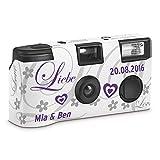 Hochzeitskamera Einwegkamera 'Liebe lila' mit Personalisierung