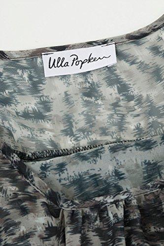 Ulla Popken Femme Grandes tailles Chemise sans manches - Tunique Longue - Mini-Robe T-shirt Tops Haut Blouse 698928 kaki foncé
