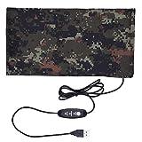 SinceY Almohadilla para Mascotas, Cable USB Camuflaje Ajustable de Temperatura eléctrico bajo el Alfombra de réchauffement para depósito de Snake Tortuga Cangrejo Lagarto Gecko Peces