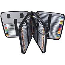 Newcomdigi Porta-lápiz soporte de la pluma caja de la cremallera de la belleza
