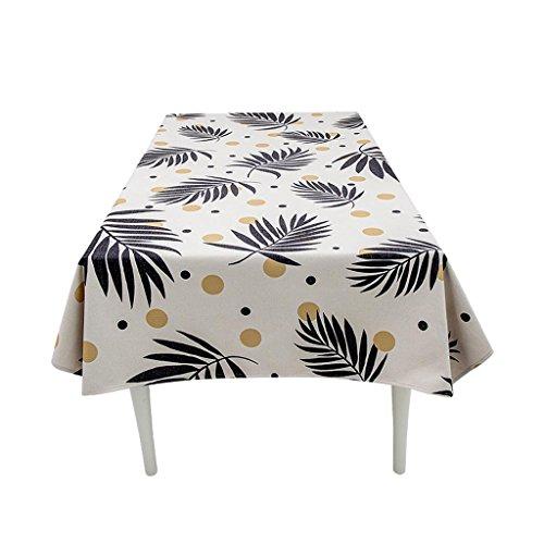 Plante coton lin nappe table rectangulaire table basse simple moderne nappe ronde , 001 , 85*85cm