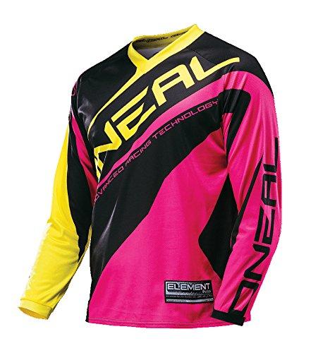 O'Neal Element MX Damen Jersey RACEWEAR Pink Lady Motocross Enduro Downhill Motorrad Shirt DH, 0024W-71, Größe L