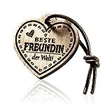 FORYOU24 Schlüsselanhänger Herz mit Gravur aus Holz - Beste Freundin