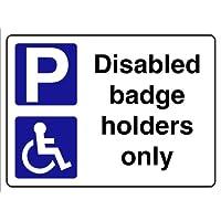 Smarts-Art Sticker pour parking handicapés Badge Supports uniquement rigide 3mm Panneau 300mm x 200mm