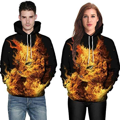 Paar Sweatshirt, JiaMeng Männer Frauen Paare Hoodies Top 3D Katze Print Langarm Bluse Shirts Kapuzen Pullover Kapuzenpullover