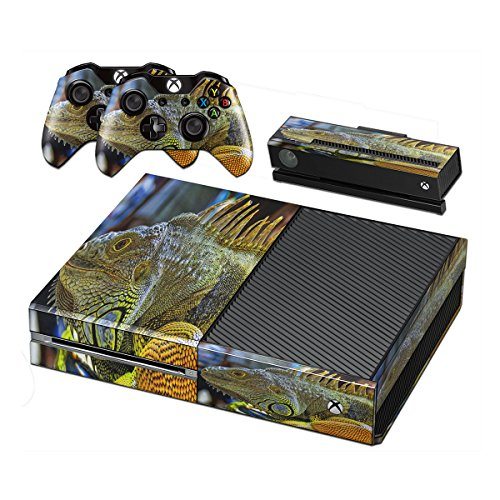 reptiles-10002-skin-sticker-vinyl-cover-with-leather-effect-laminate-and-colorful-design-for-xbox-on