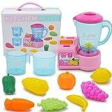Kinder Küche Spielzeug Set Smart Juicer Spielzeug mit Kinder Rollenspiel Kostüm Set Kunststoff Simulation Musik Küche elektrische Spielhaus für Kinder pädagogisches Spielzeug
