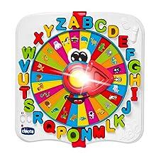 Chicco Baby Prof - Giocattolo bilingue spagnolo dell'alfabeto con luci e suoni, Bilingue Spagnolo/Inglese