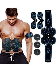 ZHENROG Electroestimulador Muscular Abdominales Cinturón,Masajeador Eléctrico Cinturón con USB,Entrenador Inalámbrico Portátil de 6 Modos de Simulación,10 Niveles Diferentes para Abdomen/Cintura