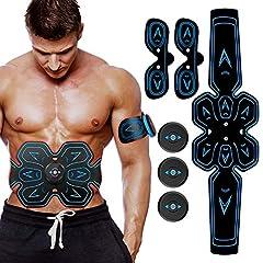 Idea Regalo - SHENGMI Elettrostimolatore Muscolare, EMS Suscolo Addominale, Addominali Attrezzi ABS, Addome/Braccio/Gambe/Waist/Glutei Massaggi-Attrezzi, USB Ricaricabile-Uomo/Donna