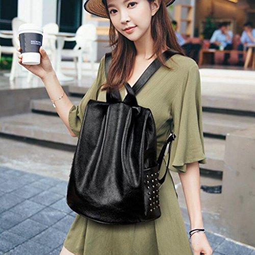 Y&F Multifunktion Reisetasche Weiblich Rucksack Schultertaschen Handtasche 33 * 17 * 36 cm Black