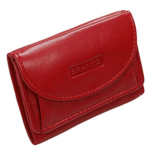 5cae64368f58a Branco Mini Geldbörse Leder Portemonnaie Geldbeutel Partybörse Minibörse  GoBago (Rot)