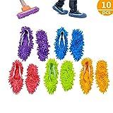 Mop Schuhe,5 Paare Einfach für Haus Boden Staub Schmutz Haare Reinigung,5 Farben