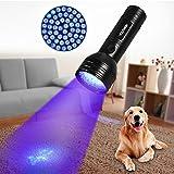 Linterna UV con 51 LED, Detector Ultravioleta de 395 nm para Detectar Orina de Mascotas en Alfombra, Flashlight Portable para Manchas de Cocinas, Fluorescencia de Ropa, Caza Escorpión, Billetes Falsos (51 LED)