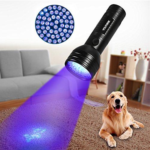 Linterna-UV-con-51-LED-Detector-Ultravioleta-de-395-nm-para-Detectar-Orina-de-Mascotas-en-Alfombra-Flashlight-Portable-para-Manchas-de-Cocinas-Fluorescencia-de-Ropa-Caza-Escorpin-Billetes-Falsos-51-LE