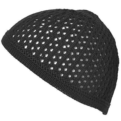 Casualbox Tricoter Coton Crâne Chapeau Kufi Islam Prière Chapeau Crochet Engrener Calotte Bonnet Hommes Chapellerie pour Tous