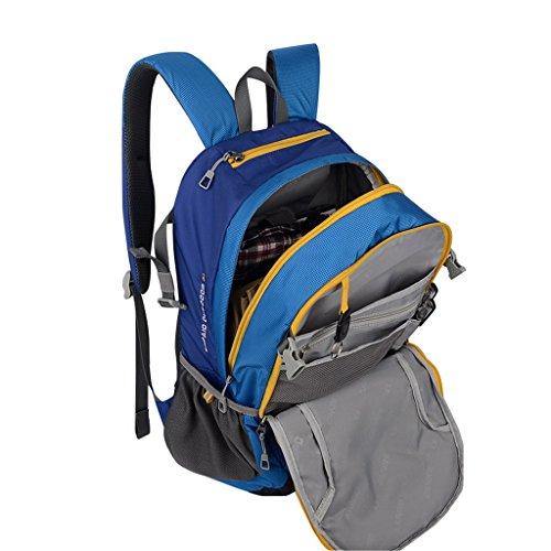 XSY 30L Zaino da Trekking Outdoor Donna e Uomo per Alpinismo Arrampicata Equitazione ad Alta Capacità borsa da Viaggio Multifunzione Blu Blu